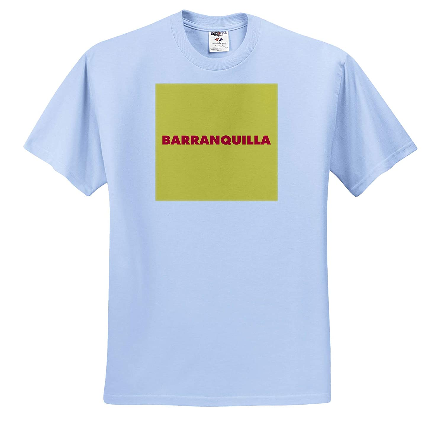 Red Barranquilla with Yellow Background T-Shirts 3dRose Kike Calvo Colombia Folklore and Traditions