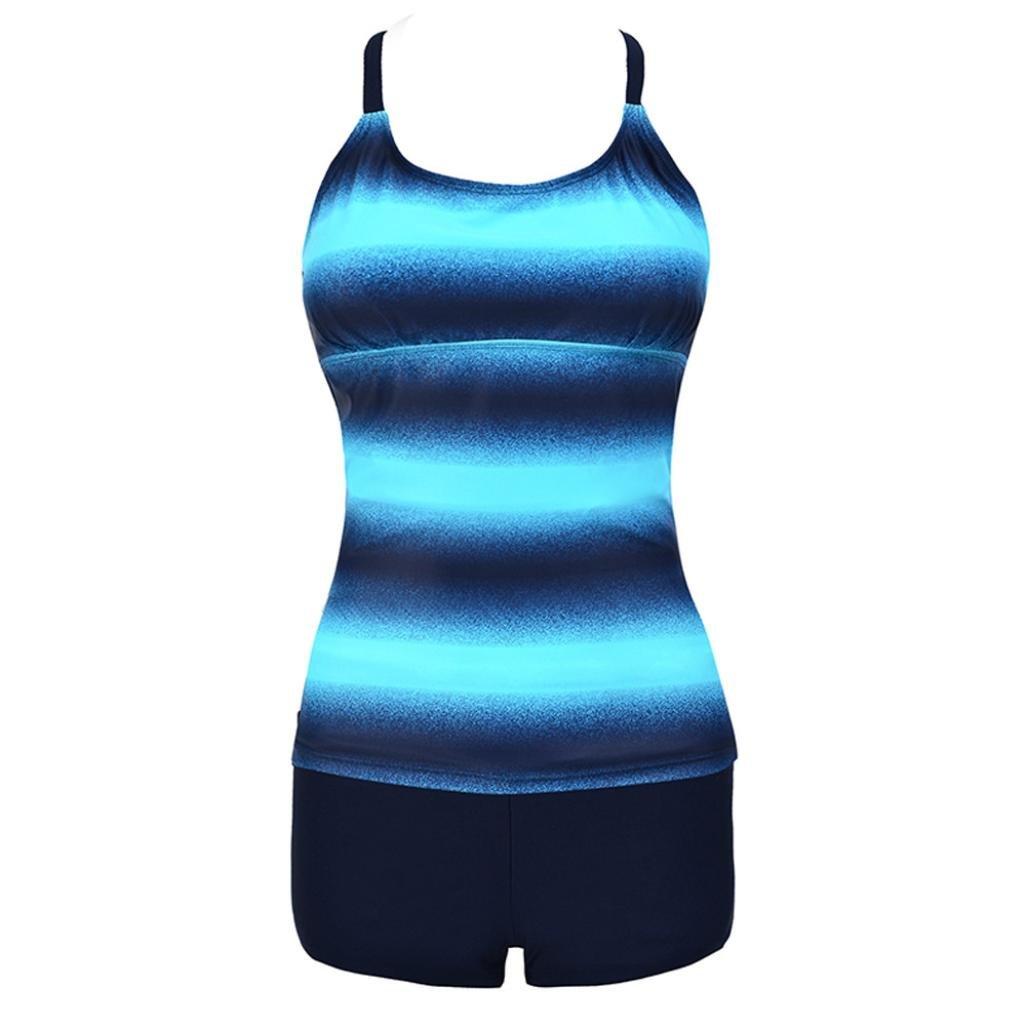 Trajes de baño mujer Traje de baño de gran tamaño dividido en cintura alta, YanHoo® Mujer Bandeau Bandage Bikini Establecer Push-Up Traje de baño brasileño ...