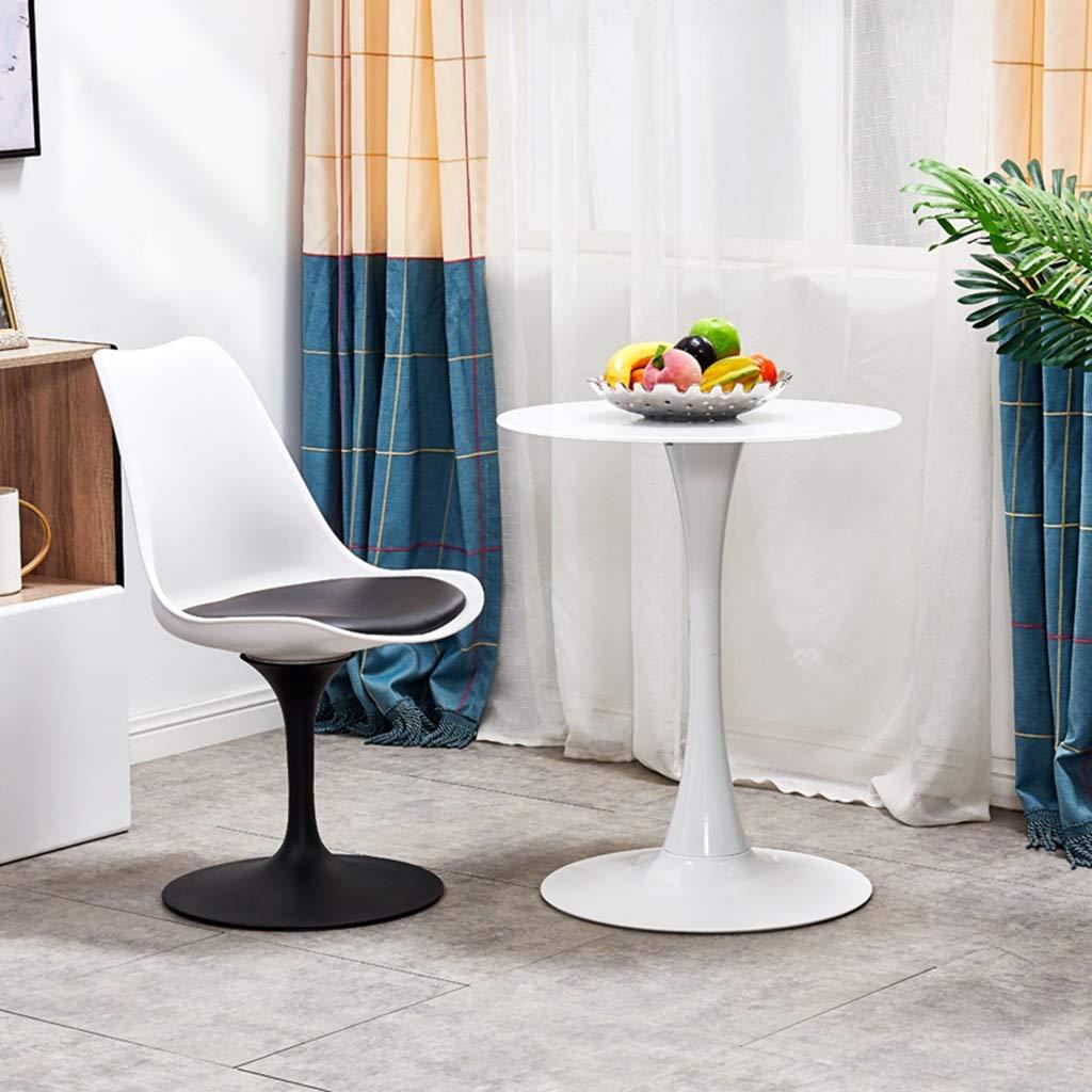 Slow Time Shop modern accent svängbar stol matstol nordisk enkel dator PU plaststol kontorsstol för hem kontor arbetsrum vardagsrum fåfänga sovrum Svart svart/vit