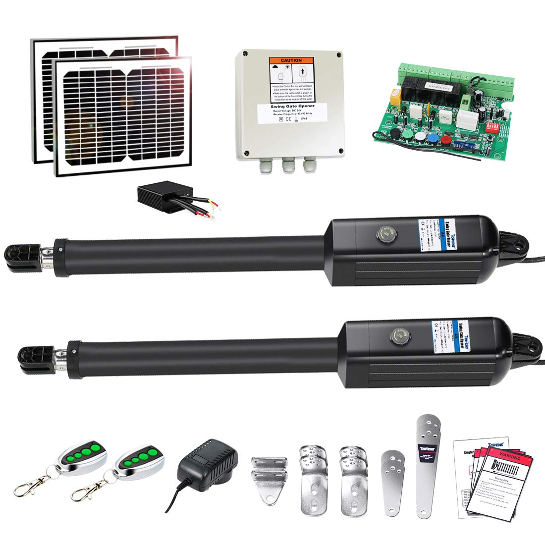 TOPENS AD8S Automatic Gate Opener Kit Heavy Duty Solar Dual Gate Operator