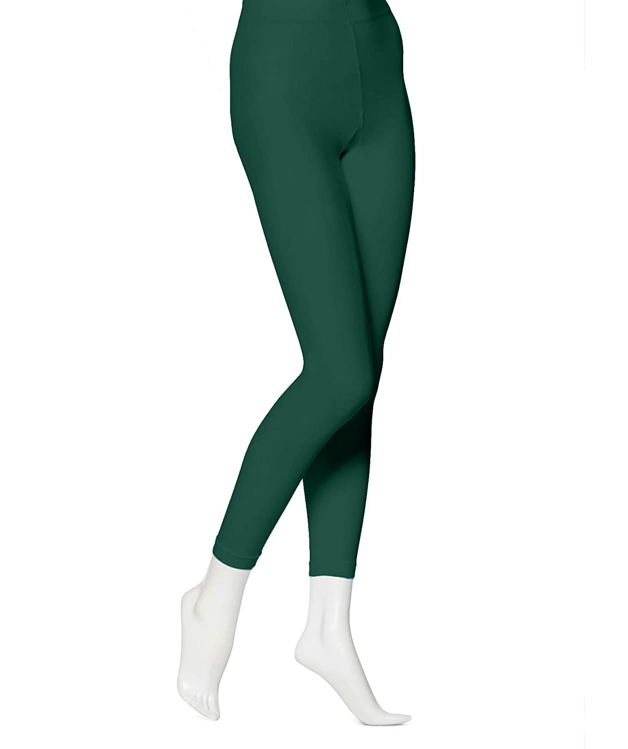 EMEM Apparel Women's Solid Colored Opaque Microfiber Footless Tights