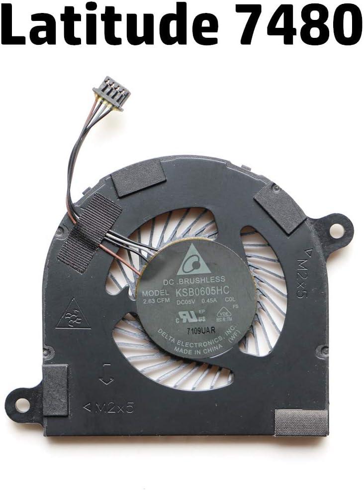 NBFAN Laptop Cooler Fan for Dell Latitude 7480 E7480 CPU Cooling Fan
