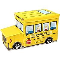 Patrón de dibujos animados de almacenamiento de juguetes