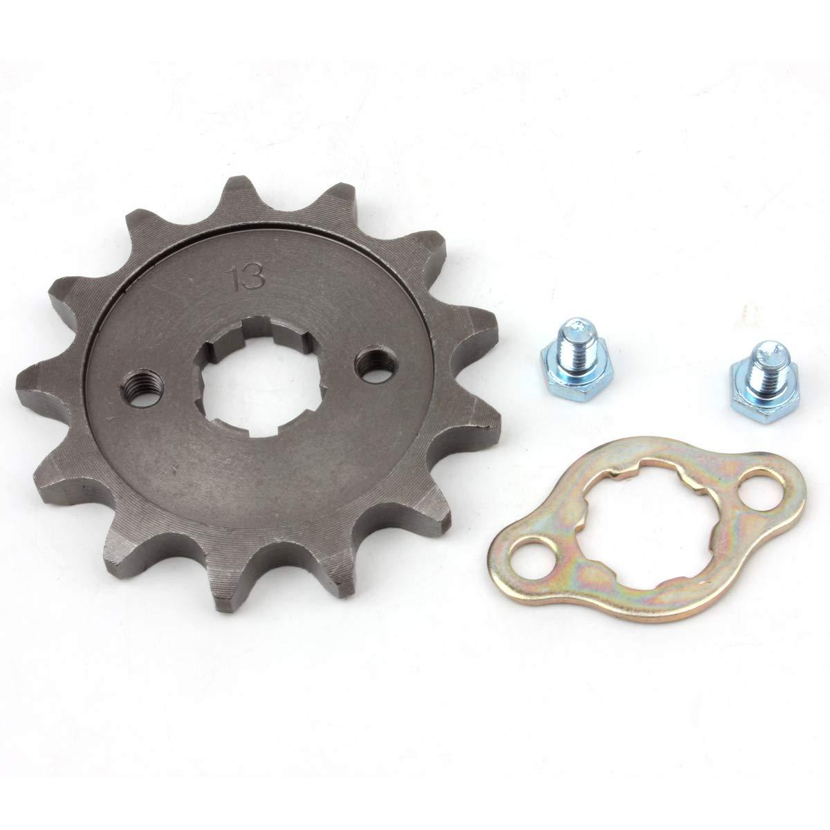 PRO CAKEN 530 13T Front Sprocket with Retainer Plate for Dirt Pit Bike ATV Go-kart DirtBikeClub 5559104566