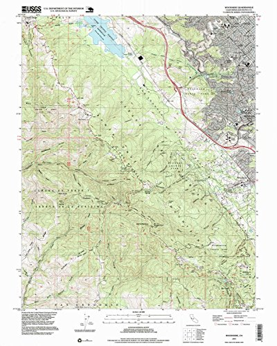 Woodside CA topo map, 1:24000 scale, 7.5 X 7.5 Minute, Historical, 1997, updated 1999, 26.9 x 21.5 IN - - Corte Ca Of Madera Map