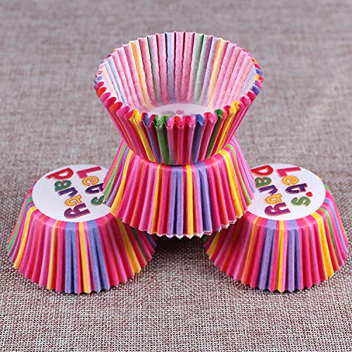 Style Sent Randomly Black Friday Deal 100PC Cupcake Liners Standard Size Cupcake Wrappers to use for Pans or carrier or on stand