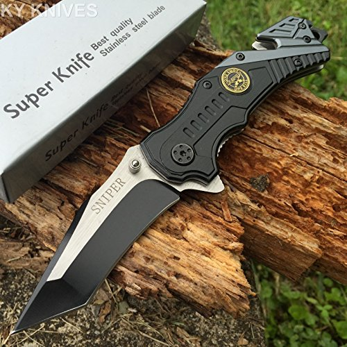 Snake-Eye-Tactical-Sniper-Rescue-Style-Assisted-Opening-Knife-with-Clip