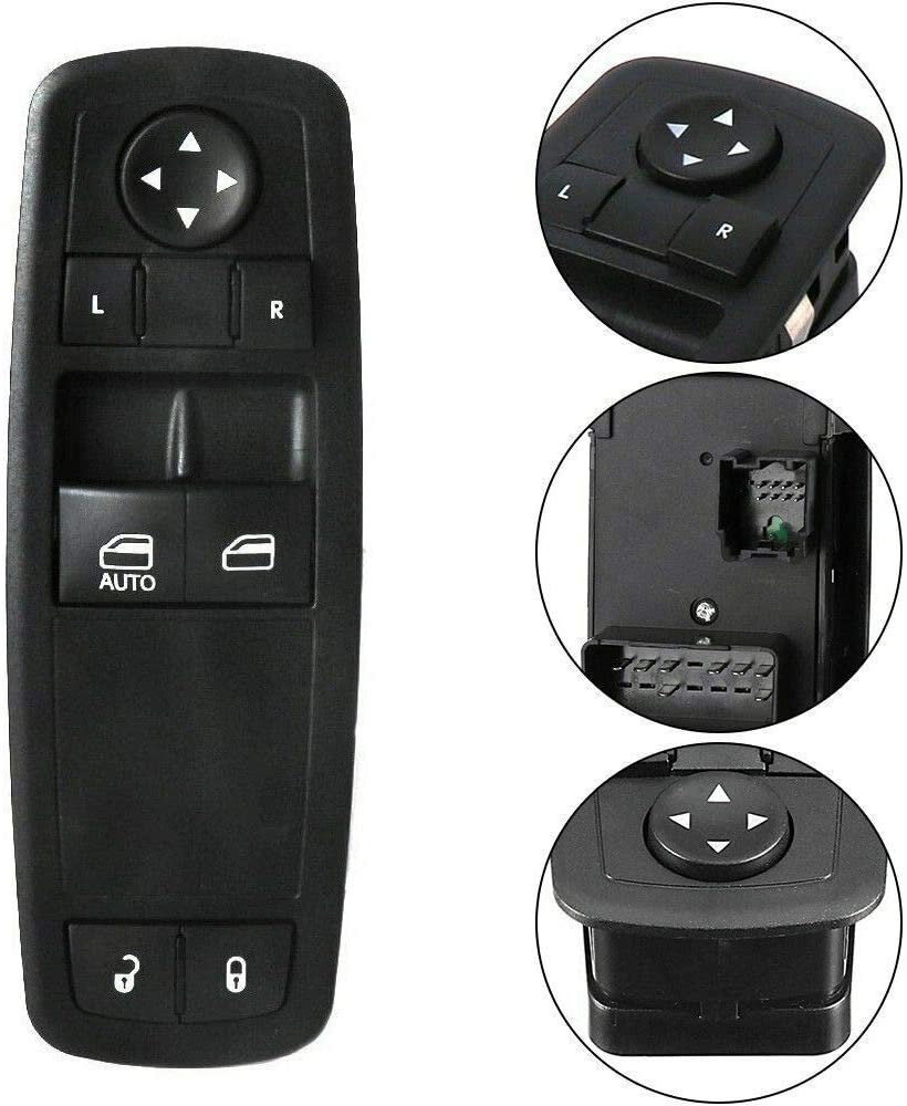 Master Power Window Switch 04602627AG 4602627AG 04602627AE 04602627AD 68110870AA 68110870AB Compatible with 2008-2011 Dodge Grand Caravan Chrysler Town /& Country