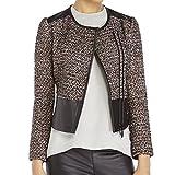 Rebecca Minkoff Women's Ansel Tweed Moto Jacket, Multi, 0