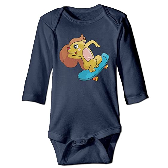 Amazon Com Squirrel Skateboard Toddler Baby Girl Boy Long Sleeves