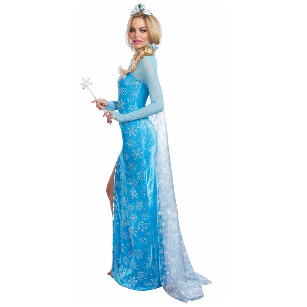 Costume regina delle nevi vestito azzurro Diadem Ice Princess Ice Age  Märchen  Amazon.it  Giochi e giocattoli 00ae5a092ef