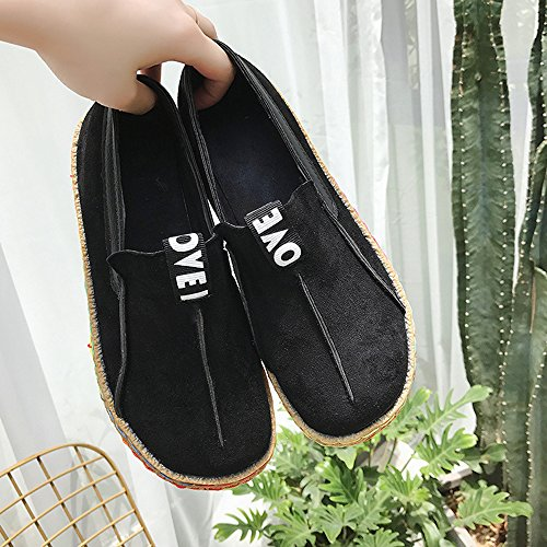 Walking Leather Wide Platform Mary ALBBG Travel Black Girl's Loafers Boat Brown Woman's Shoes Driving fdpqw7d