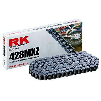 RK Racing Chain 428MXZ-122 122-Links MX Chain with Connecting Link: Automotive