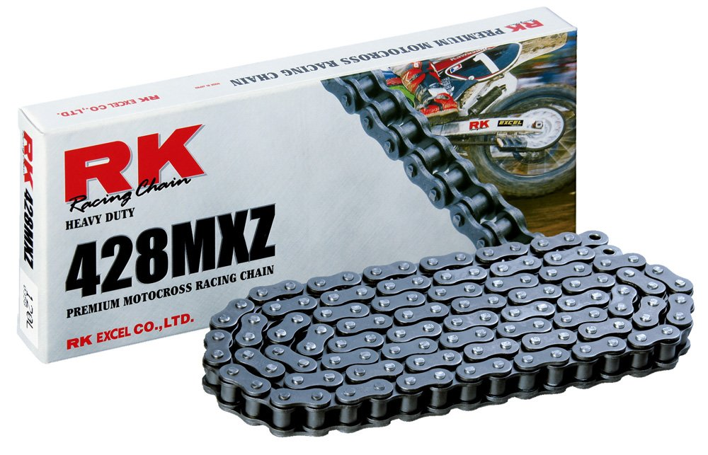 RK Racing Chain 428MXZ-104 104-Links MX Chain with Connecting Link