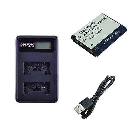 Dot.Foto Nikon EN-EL10 Batería + Cargador Doble USB LCD con ...