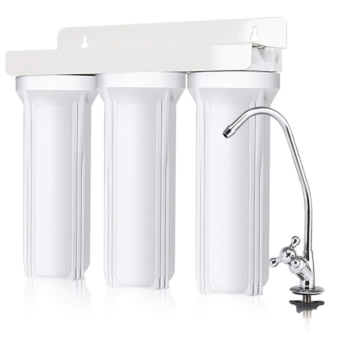 zwan 3-Stage Under-Sink Water Filter System with Chromed Faucet with Ebook