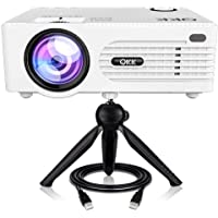 "QKK Latest Upgraded 4200Lumens Mini Projector with 176"" Projection Size, 1080P Supported Video Projector, Compatible…"