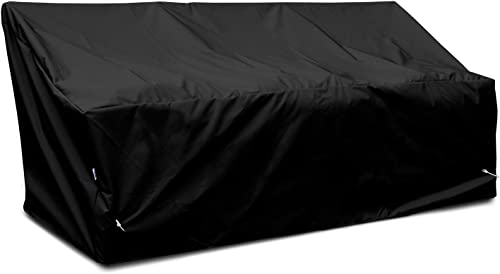 KoverRoos Weathermax 76450 Deep 3-Seat Glider Lounge Cover, 89-Inch Width by 36-Inch Diameter by 33-Inch Height, Black