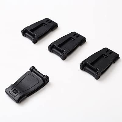 1T Lot de 4 Molle Sangle Strap Buckle (Noir)