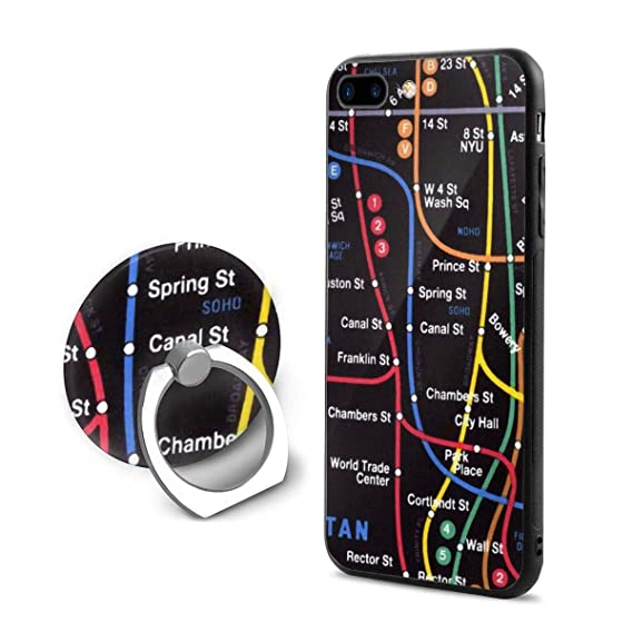 Iphone X Subway Map Nyc.Amazon Com Subway Map New York City Iphone 7 Plus Case Iphone 8