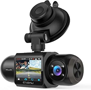 Uber Dual 1080P FHD Built-in GPS Wi-Fi Dash Cam, Front and Inside Car Camera Recorder with Infrared Night Vision, Sony Sensor, Supercapacitor, 4 IR LEDs,G-Sensor, Parking Mode, Loop Recording, WDR