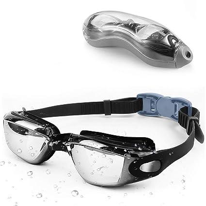 5fbf4fc8938 YTYC Swimming Goggles - Waterproof Swim Goggle with Anti Fog UV Protection  Triathlon Swim Goggles and