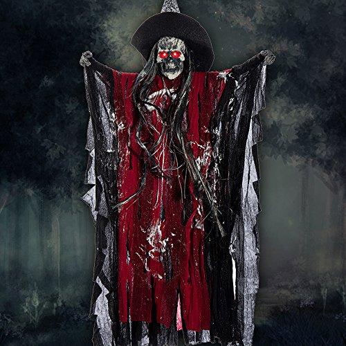 25in Halloween Hanging Grim Reaper Prop Animated Hanging