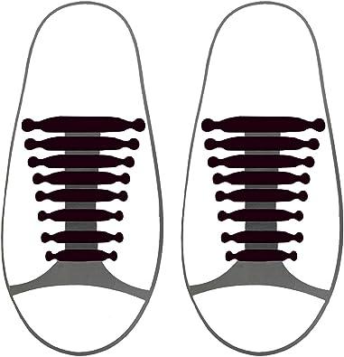 12pcs No Tie Shoelaces WHITE Womens Mens Shoe Laces Plastic Silicone Silicon AU
