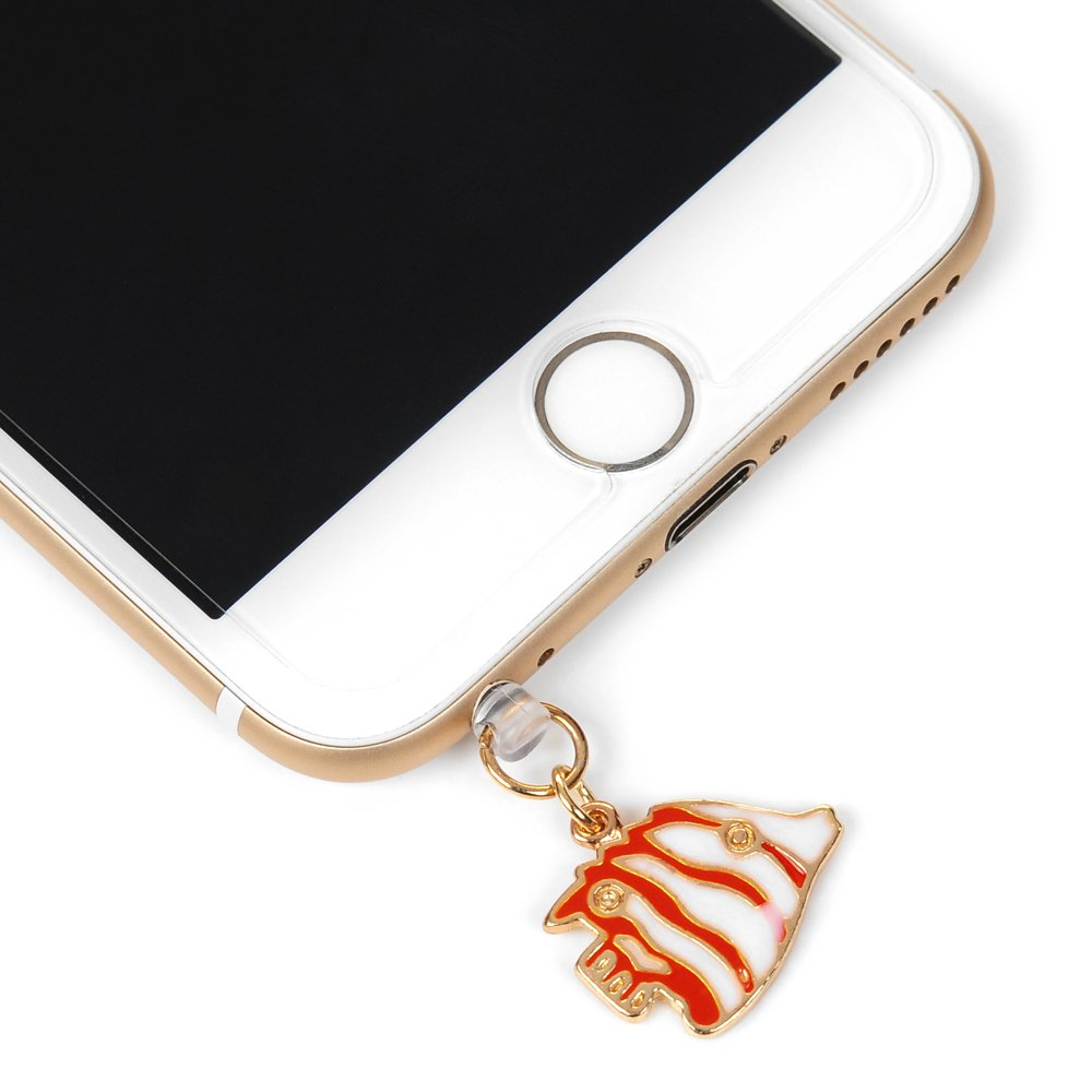 Edauto 3.5MM 3D Strass Dust Plug Staubschutz St/öpsel Kappe Headset Staubstecker Handys Staub Stecker Kopfh/örer Kopfh/örerbuchse f/ür Smartphones Tablets Einhorn Diamant Lamm