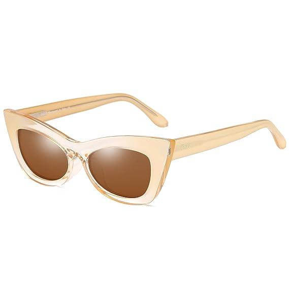 965131ee041106 Duco femmes Vintage Œil de chat lunettes de soleil chic en gras bordée de  lentilles UV400