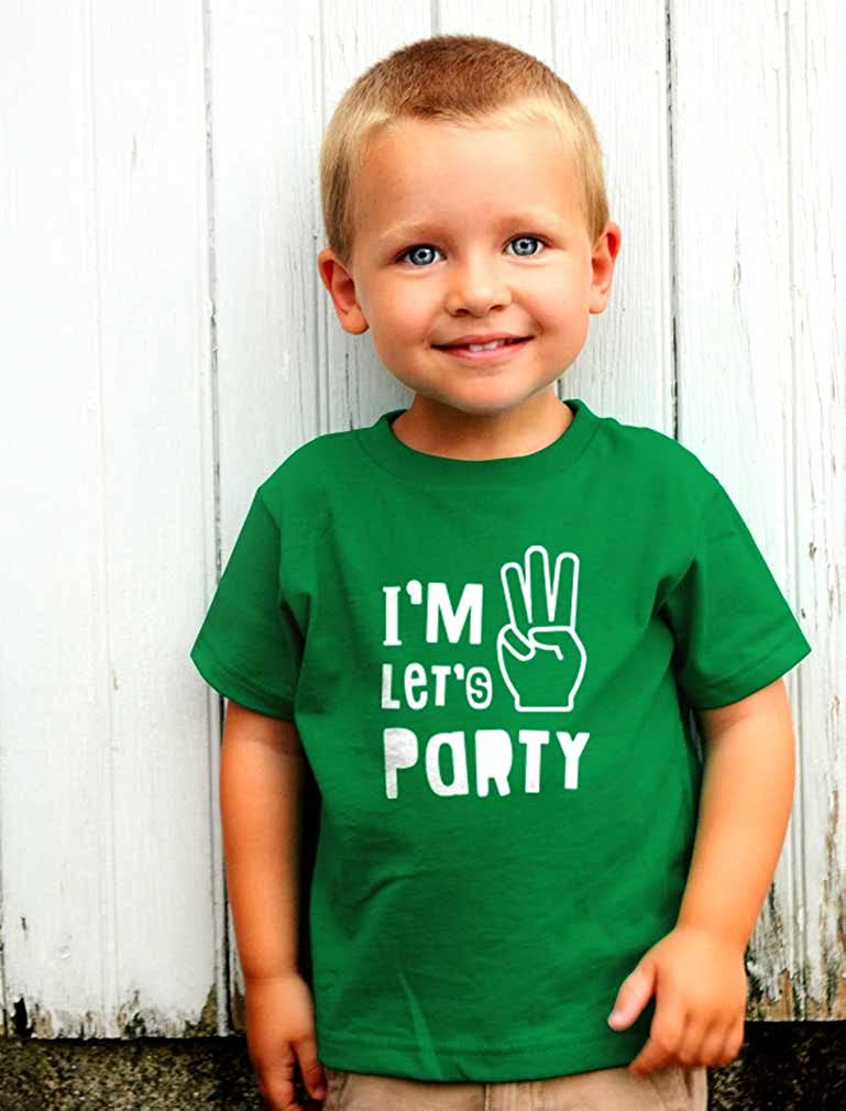 TeeStars Im Three Lets Party Cute 3rd Birthday Gift Toddler Kids T-Shirt