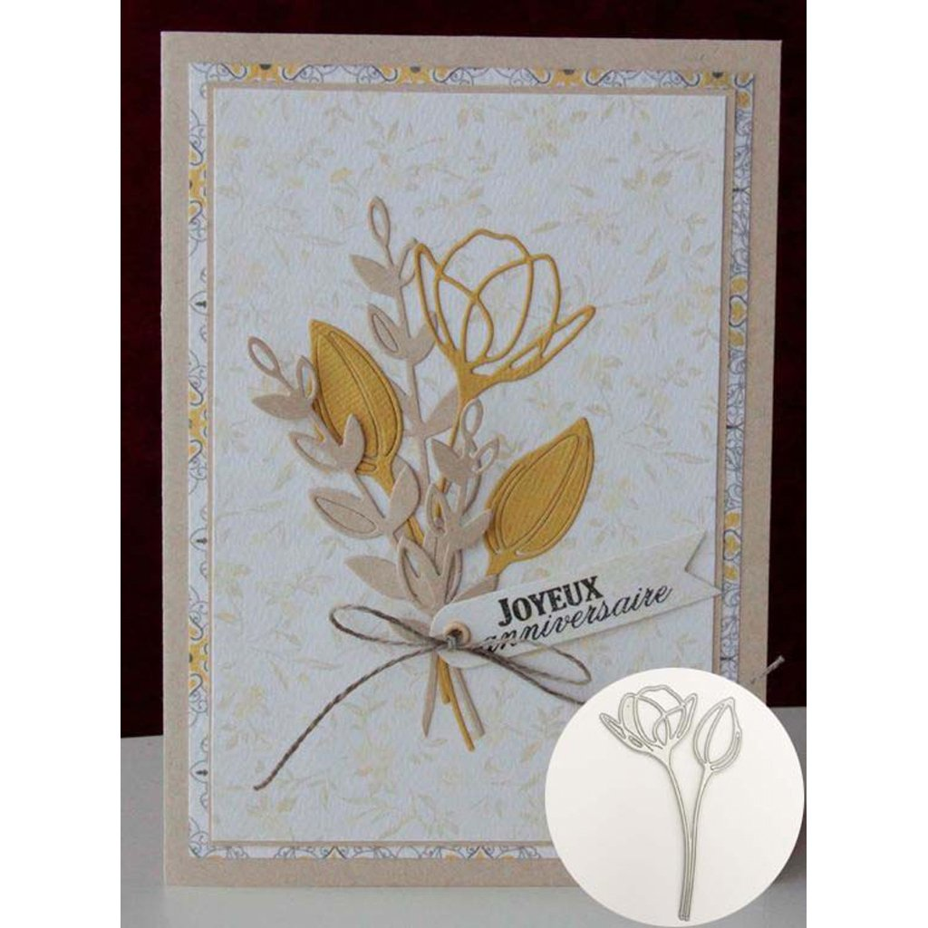 Ranuw Matrices De D/écoupe,Lotus Cutting Dies Pochoir DIY Scrapbooking Gaufrage Album Papier Carte Artisanat