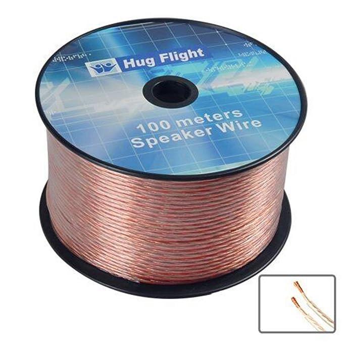 Funtell 100m 2x 2.5mm Speaker Wire Copper Clad Aluminum: Amazon.co ...