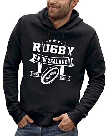 PIXEL EVOLUTION Sudadera con Capucha 3D Rugby New Zealand en Realidad Aumentada Hombre: Amazon.es: Ropa y accesorios