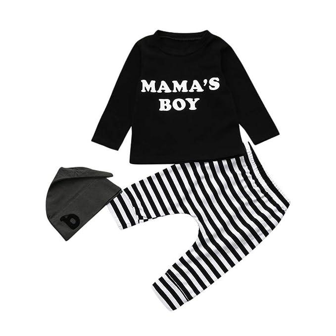 Camisas y Pantalones con Gorras Bebe Navidad Pijamas Enteros de Invierno para Niño y Niña por