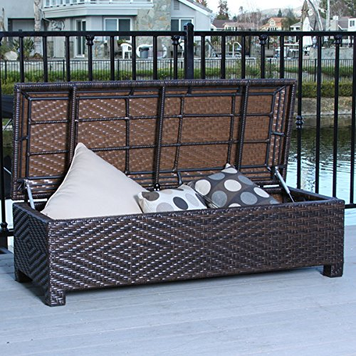 Santiago Brown Wicker Storage Ottoman by Christopher Knight Home by Christopher Knight Home