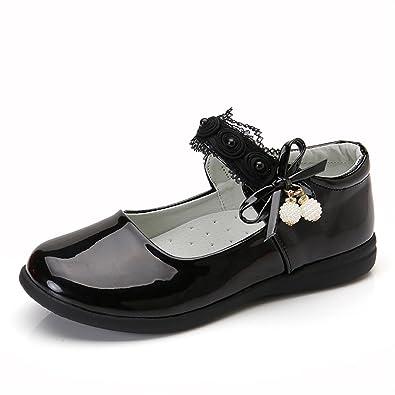 f24adbe31220a Infabe 女の子 ドレスシューズ キッズ 靴 軽量 滑り止め加工 靴ずれ防止 子供フォーマル靴 リボン