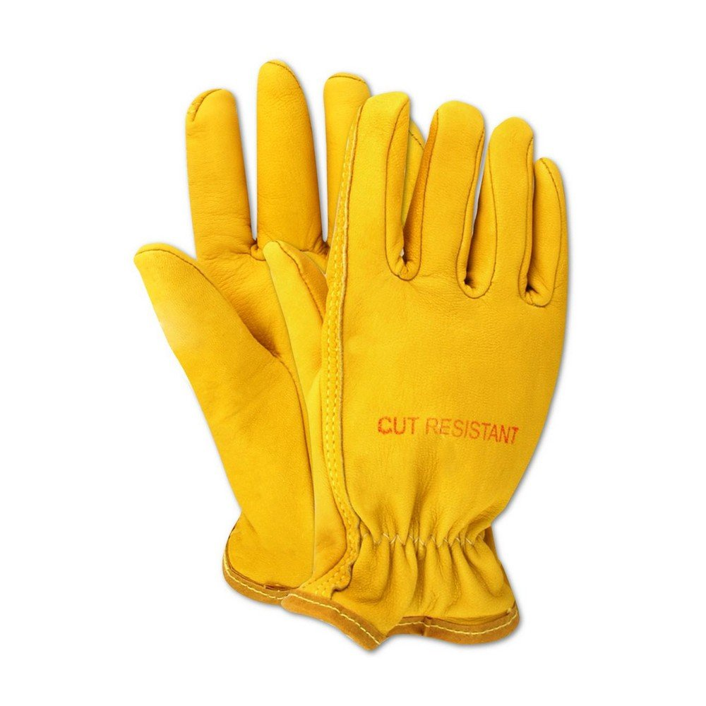 Magid Glove & Safety 1247DENKVU-6XL Road Master 1247DENKVU Lined Deluxe Grain Leather Drivers Gloves, 6XL, Yellow (Pack of 12)