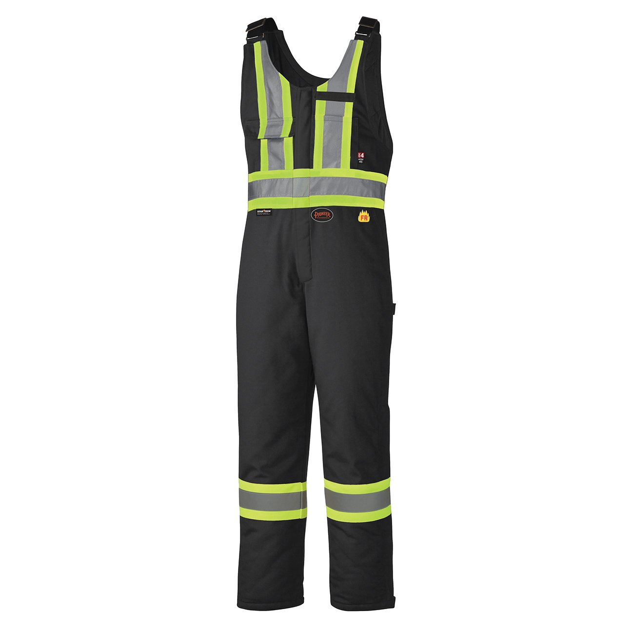FR Insulated Work Overall Bib Pants- 7 Pockets - Easy Boot Access, Hi-Vis Pioneer V2560370-L