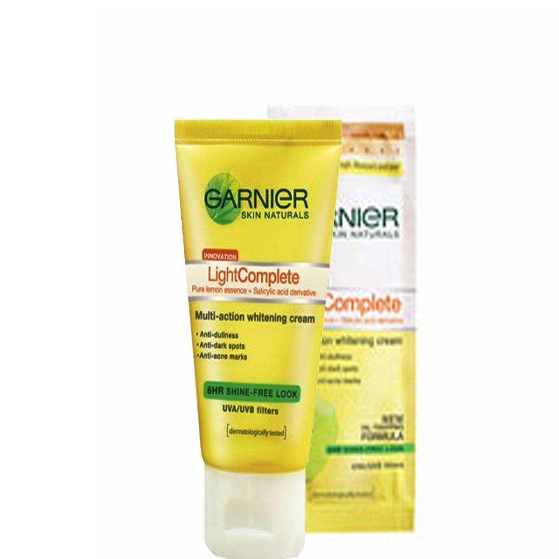 Garnier Light Complete Whitening Cream & 8hr Shine Free Matt Skin