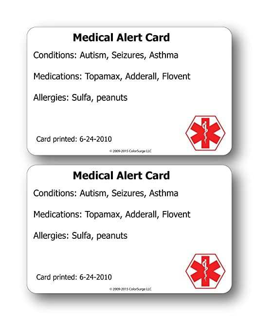 Amazon medical alert id cards you get two health amazon medical alert id cards you get two health personal care pronofoot35fo Images