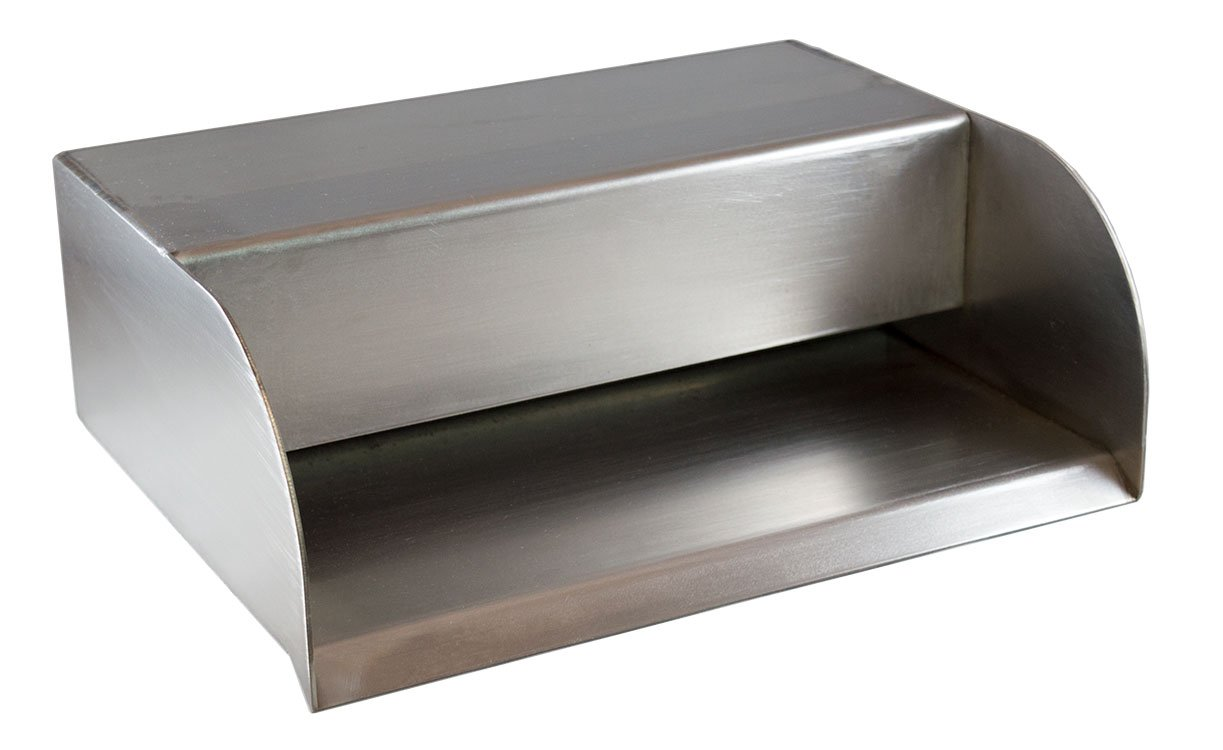 Picard 12'' Cascading Scupper Spillway Trough Wall Mount for Pools, Ponds, Fountains & Water Features - Stainless Steel