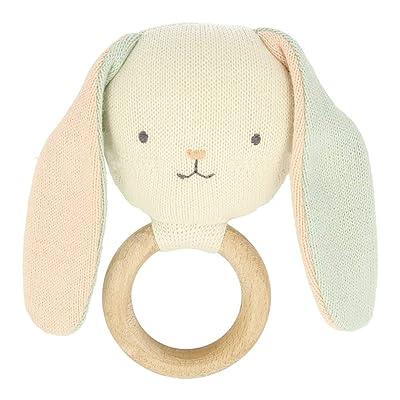 Meri Meri Bunny Baby Rattle: Toys & Games