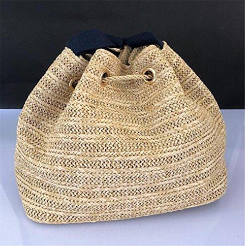 ELEGENCE Literary Purpose Woven Z Beach Bag And Slung Bucket Handbags Straw Europe Shoulder Bag America Bual HHzgrq