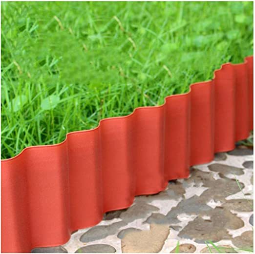 ZENGAI-vallas De JardíN Valla for Exteriores Valla De Plastico Ondulado Jardín Barandilla Césped Decoración (Color : Red, Size : 900X15CM): Amazon.es: Jardín