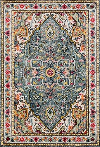 514 Blue Bohemian 8 x 10 Area Rug Carpet