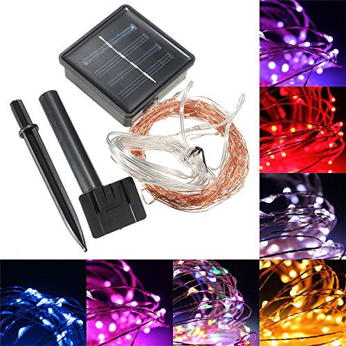 Red Solar Led String Lights - 9