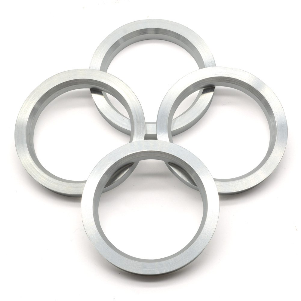 73.1mm OD to 57.1mm ID Hub Centric Rings, Silver Aluminum Hubcentric Rings for Many AUDI CHEVROLET DODGE CHRYSLER, Pack of 4