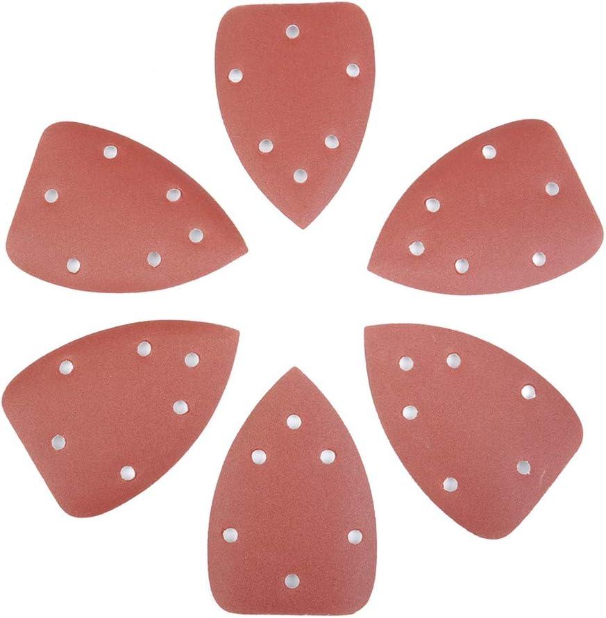 Mayoaoa autoadhesivo herramienta de lijado 5 agujeros 800 100 pulido 10 unidades de papel de lija triangular grano 40