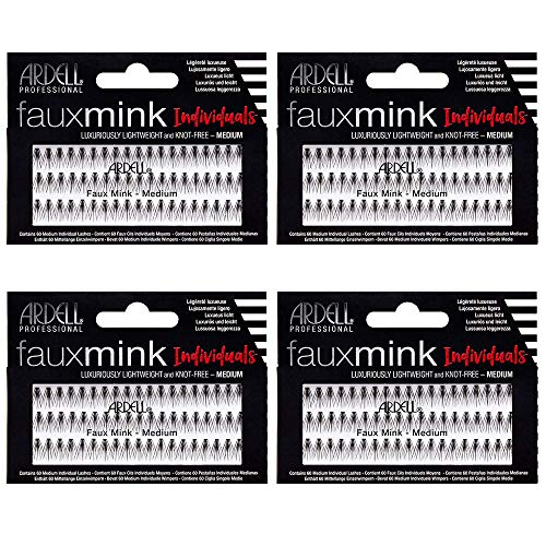 - Ardell False Eye Lashes Faux Mink Individuals Medium Black 4 Pack